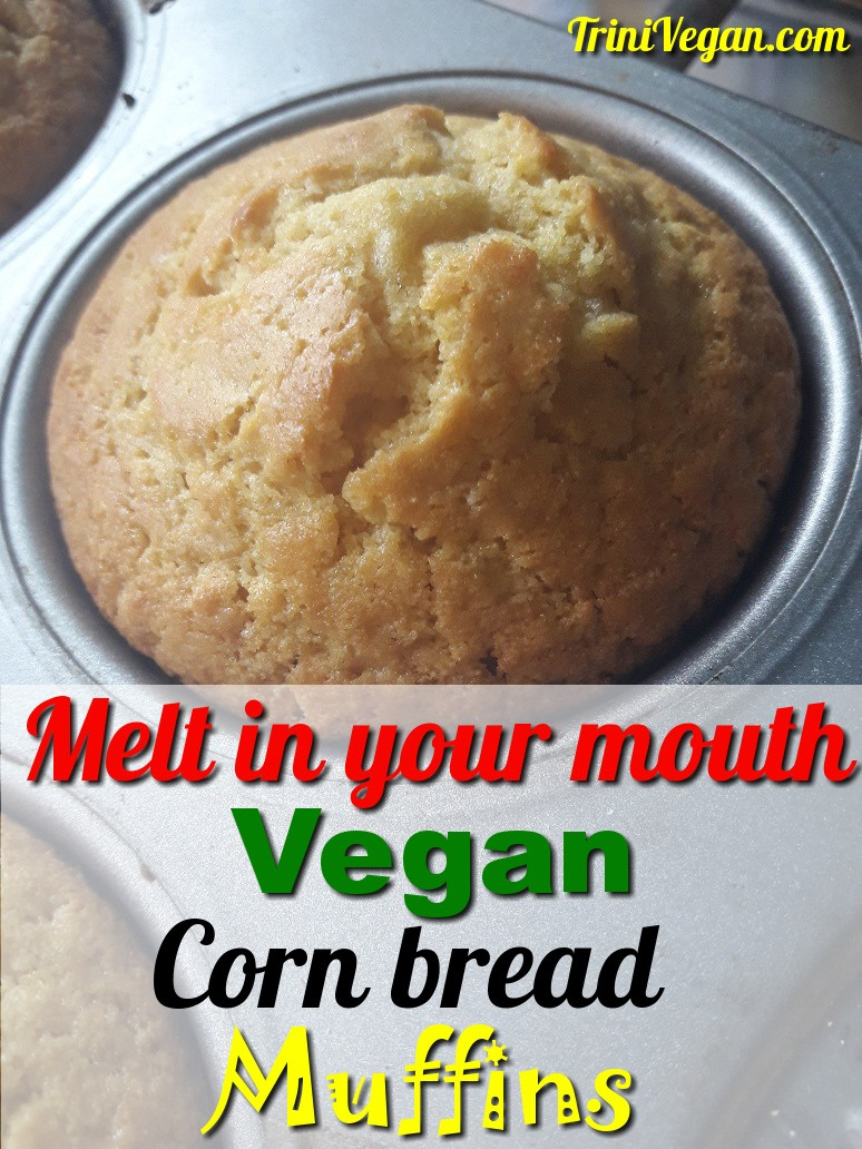 Melt In Your Mouth Vegan Corn Bread Muffins