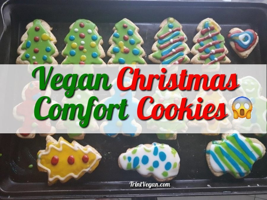 Vegan Christmas Comfort Cookies With Royal Icing