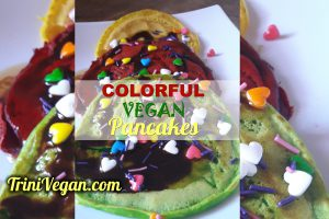 Delicious & Colourful Vegan Pancakes