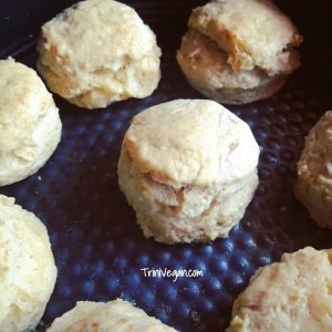 Fluffy & Flaky  Vegan KFC Style Biscuits